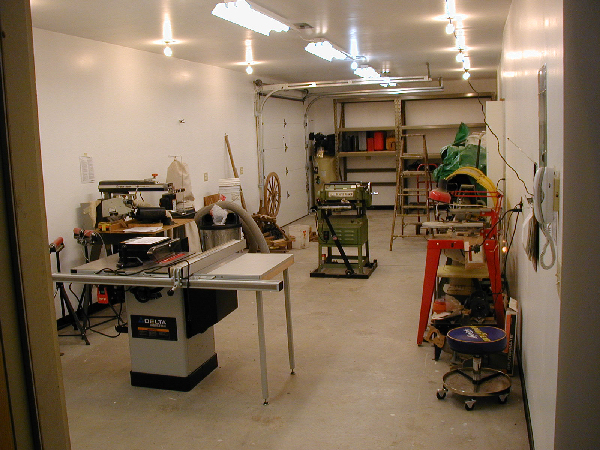 Woodworking Shop, with Stuff